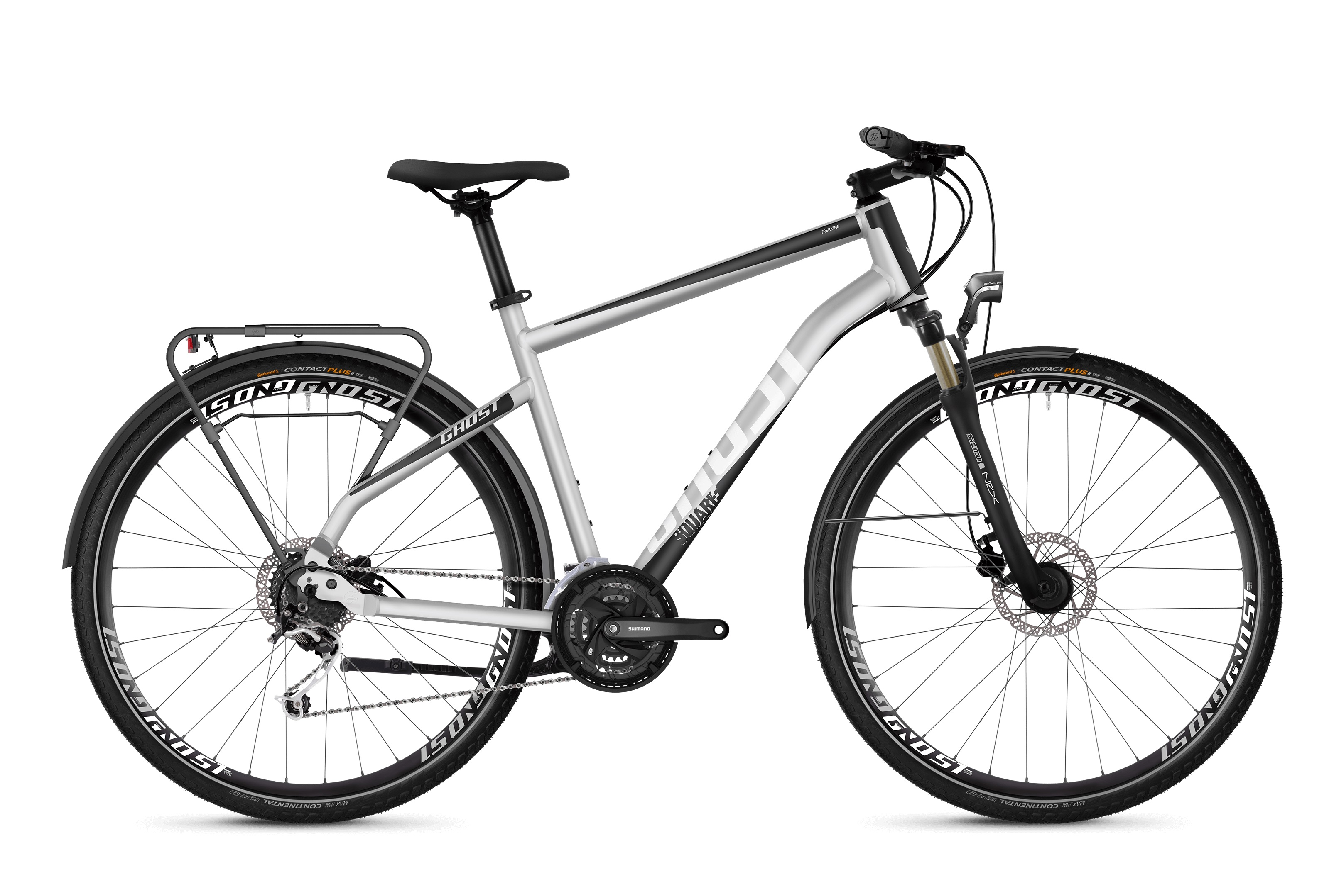 Bicykel GHOST Square Trekking 4.8 iridium silver / jet black / star white 2019