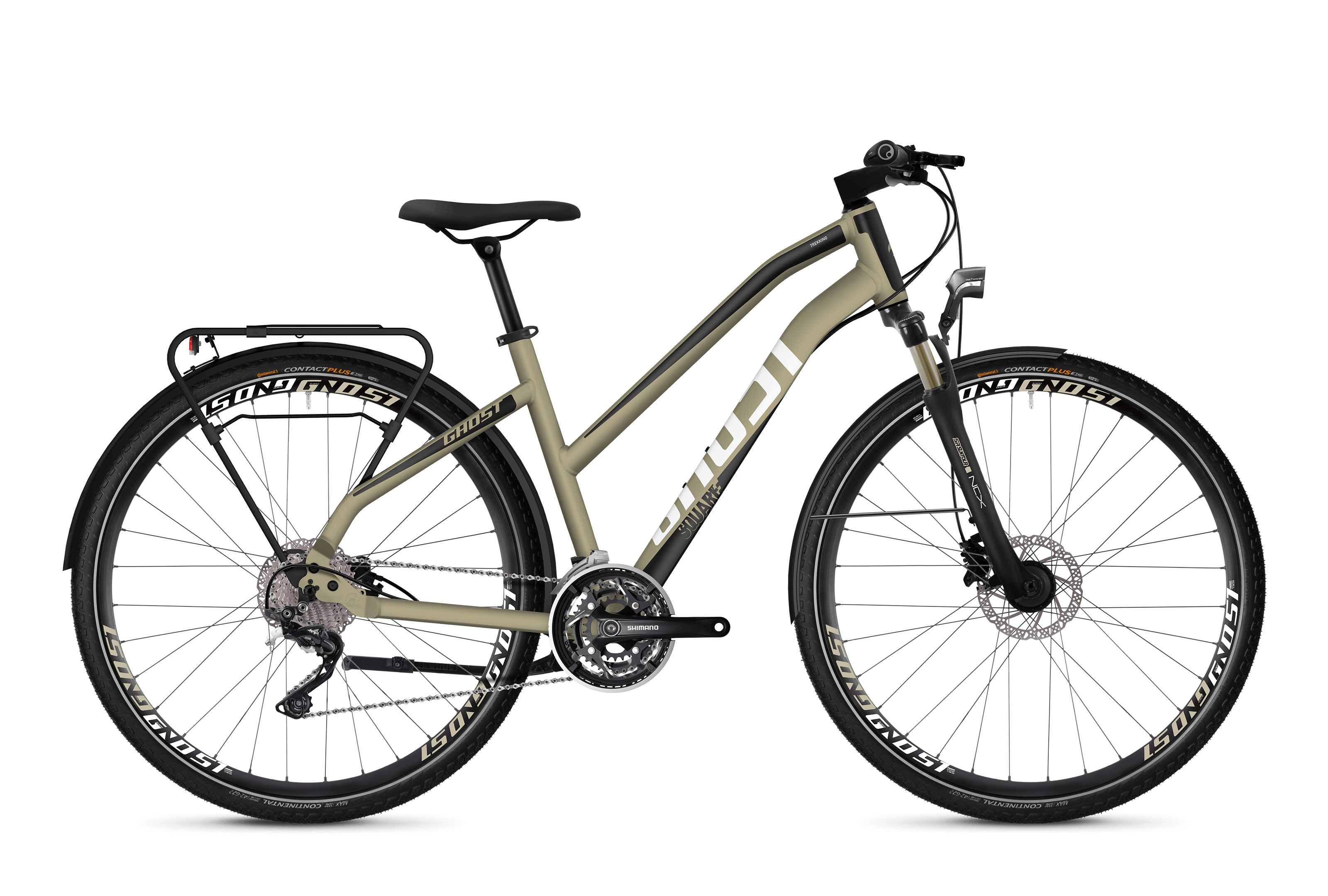 Bicykel GHOST Square Trekking 6.8 Lady ext gold / jet black / star white 2019