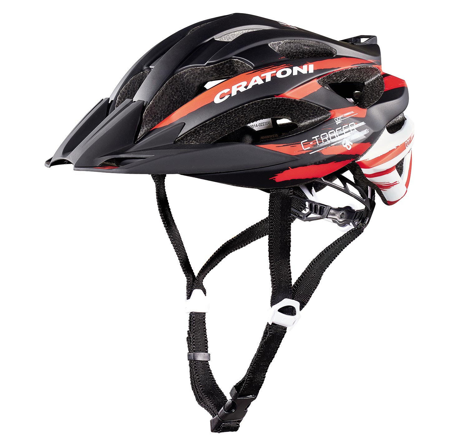 Prilba CRATONI C-Tracer black-red-white rubber