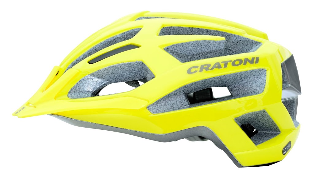 Prilba CRATONI C-Flash yellow-blue glossy
