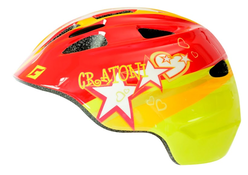 Prilba CRATONI Akino STAR red-yellow glossy
