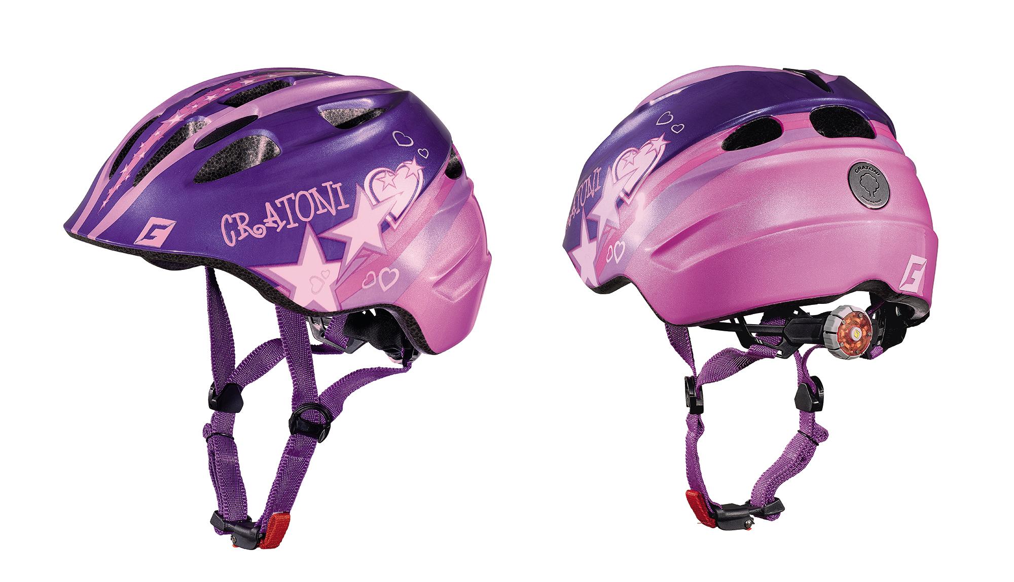 Prilba CRATONI AKINO | star purple-pink glossy
