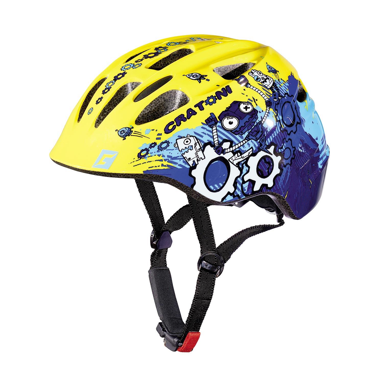 Prilba CRATONI Akino ROBO yellow-blue glossy