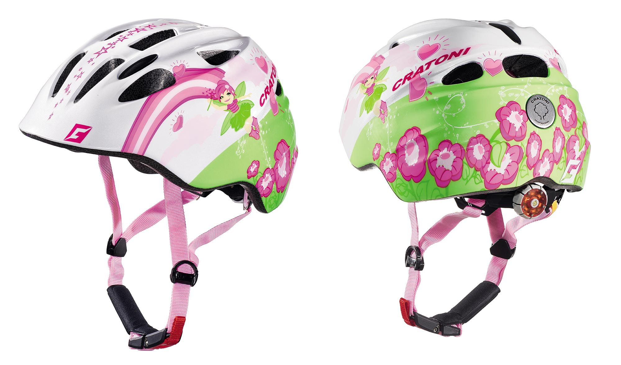 Prilba CRATONI AKINO | fay white-pink glossy