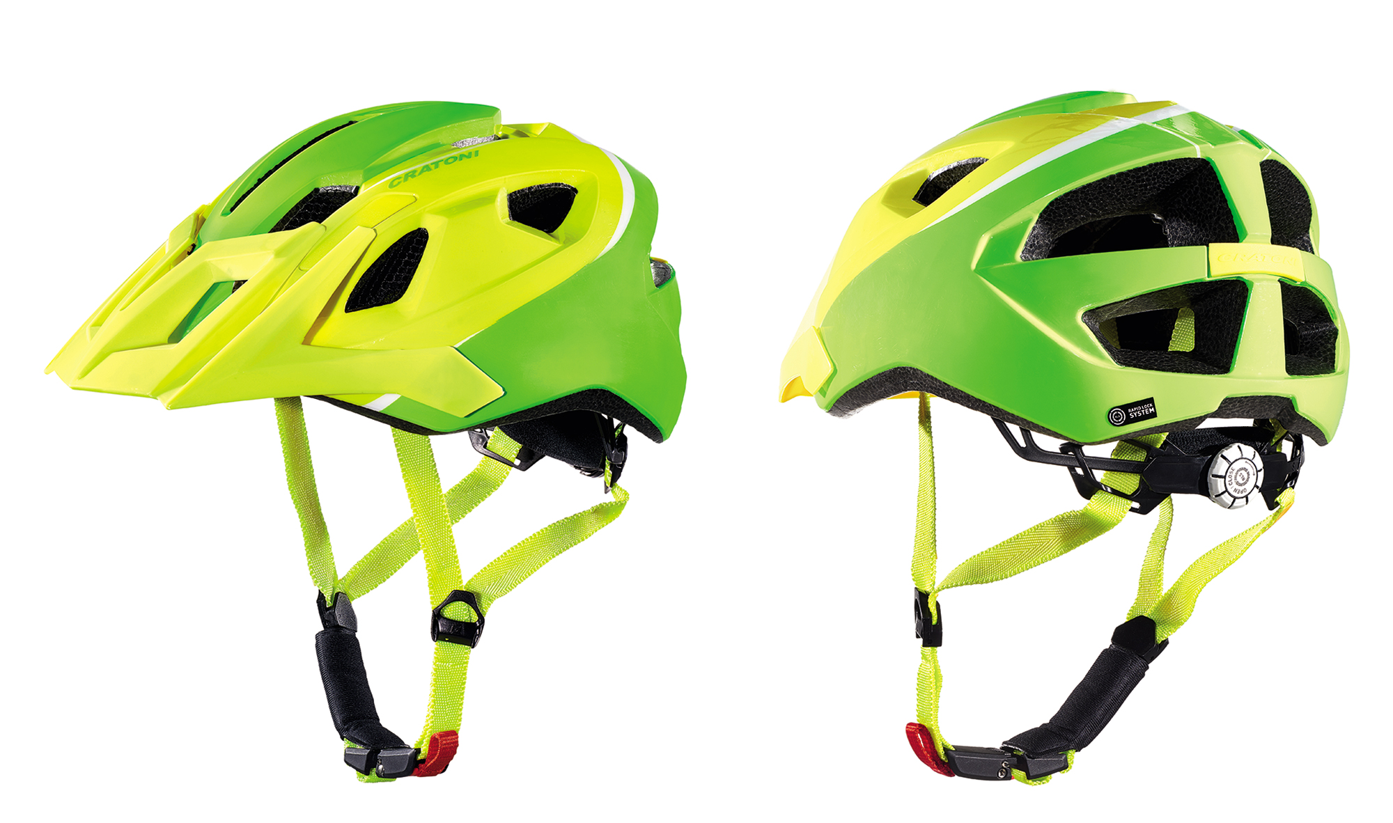 Prilba CRATONI AllRide lime-white matt