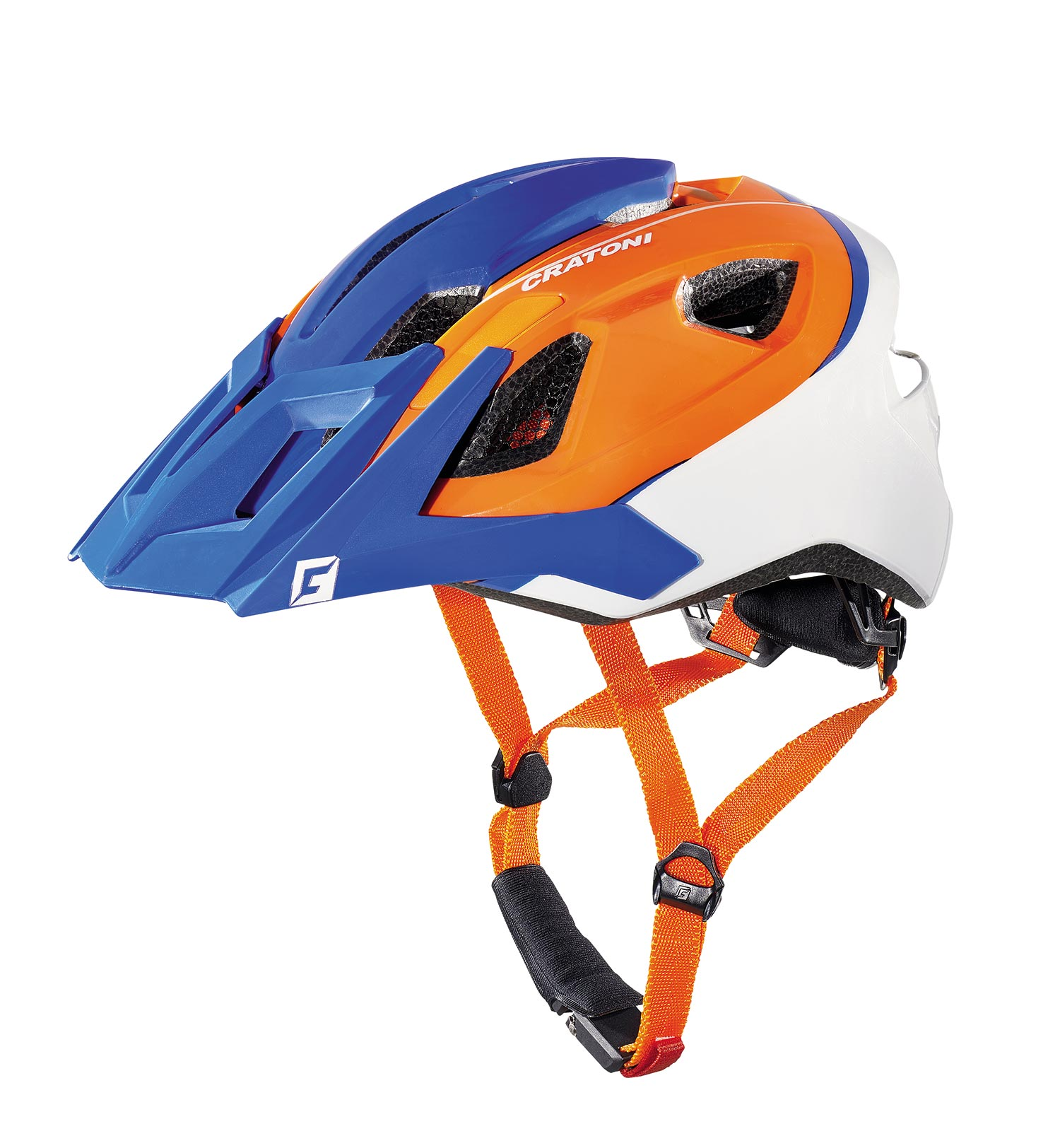 Prilba CRATONI AllRide blue-orange-white matt