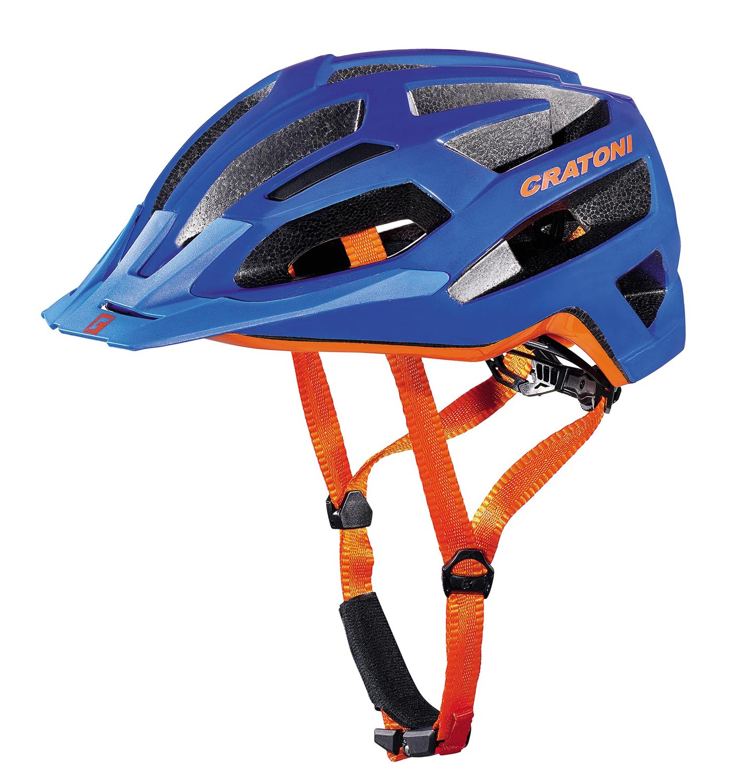 Prilba CRATONI C-Flash blue-orange glossy