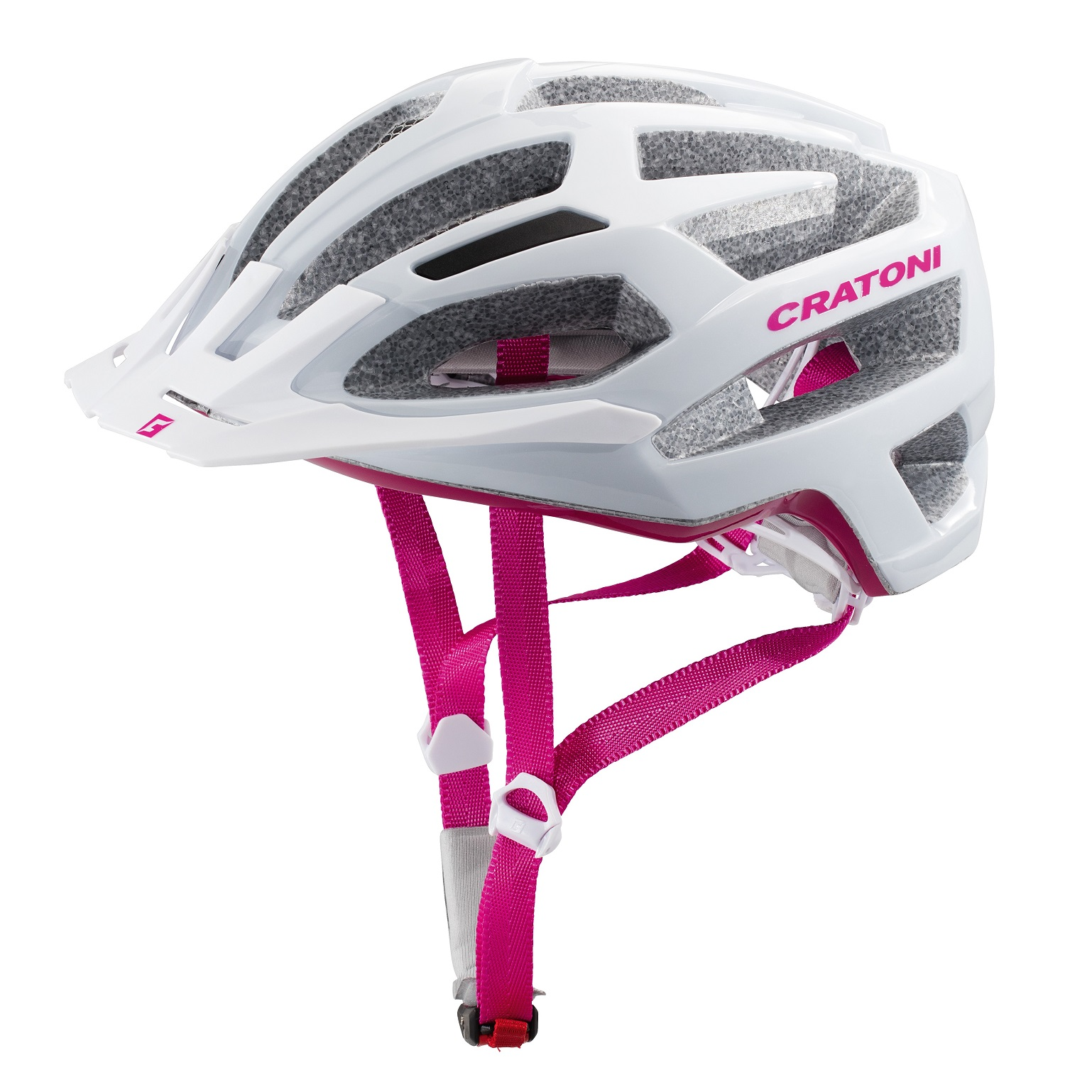 Prilba CRATONI C-FLASH | white-pink glossy