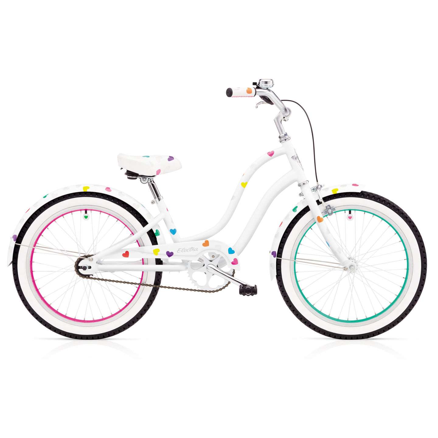 Bicykel ELECTRA Heartchya 1 Girls' White 2018