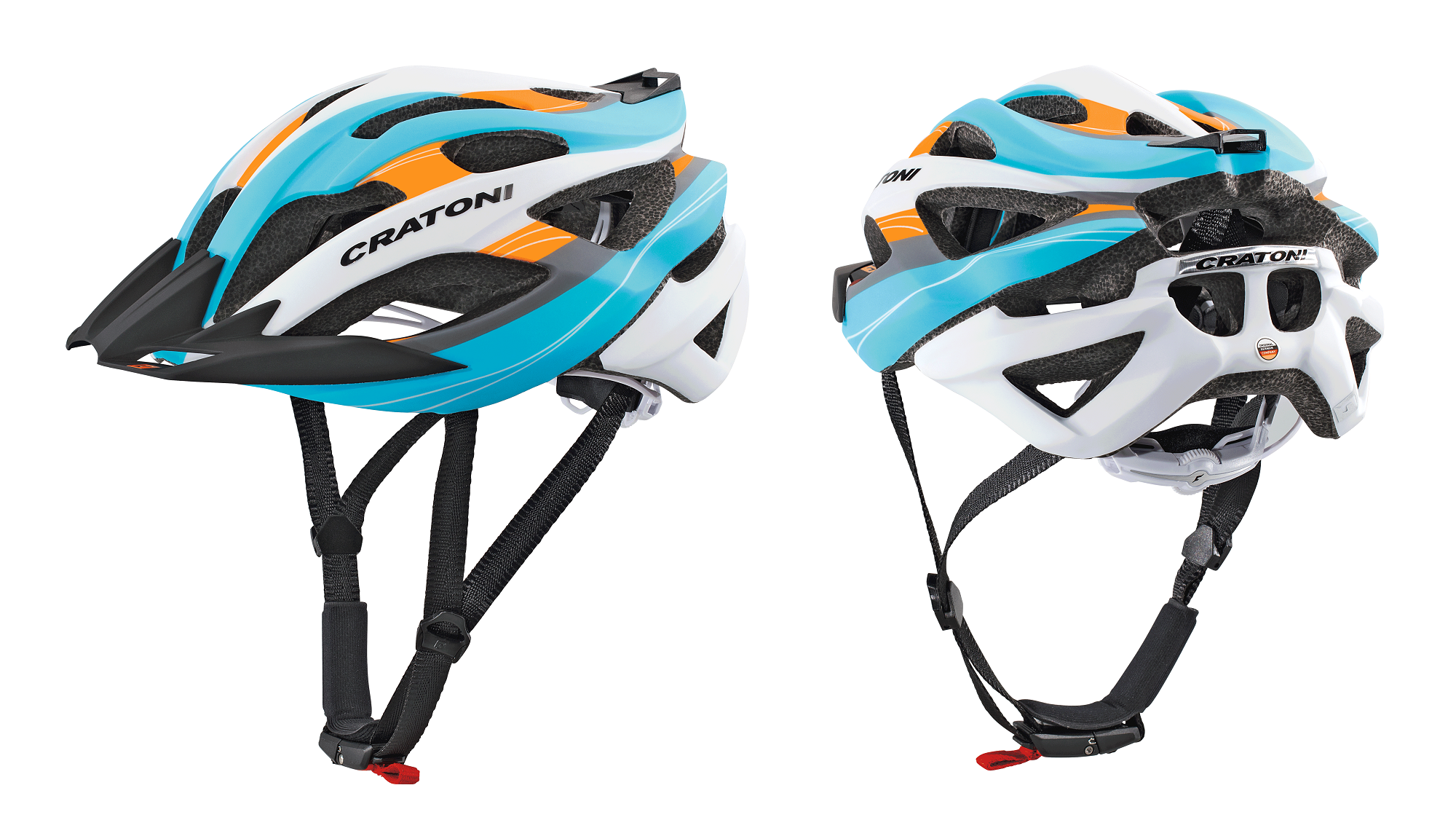 Prilba CRATONI C-Tracer blue-orange-silver rubber