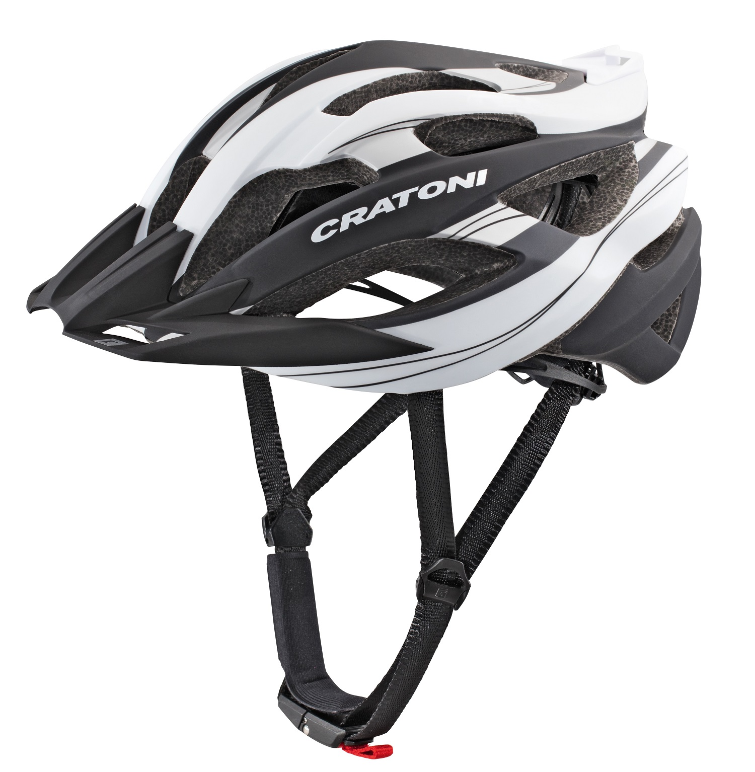 Prilba CRATONI C-Tracer black-white rubber