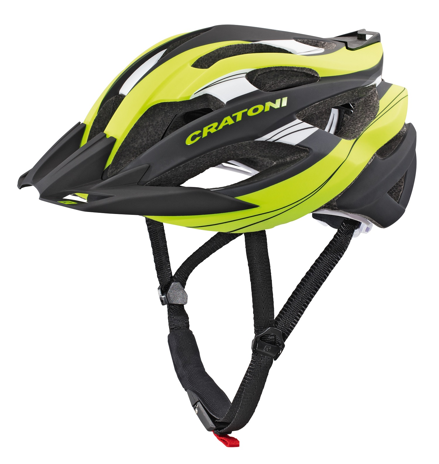 Prilba CRATONI C-Tracer lime-black rubber