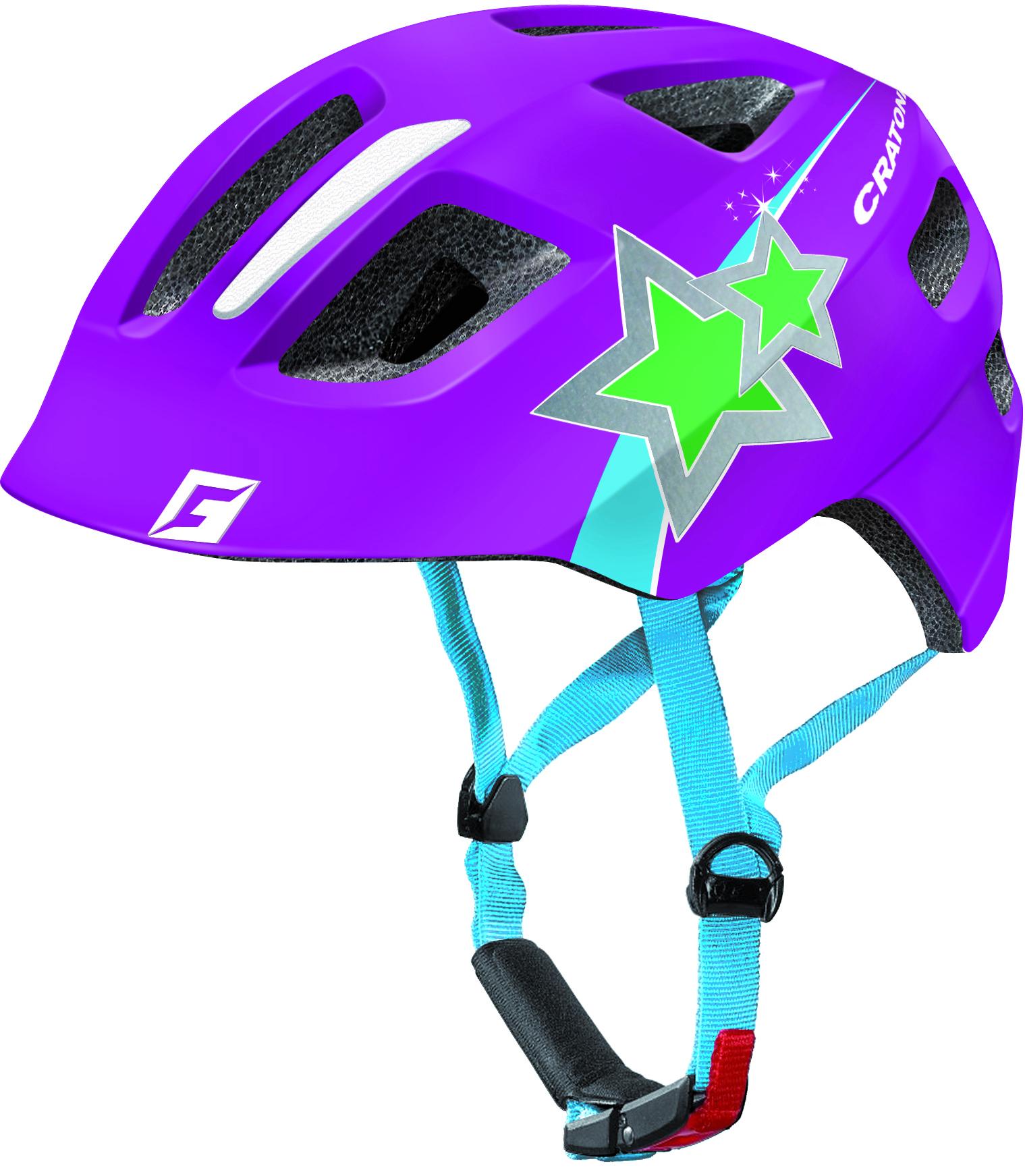 Prilba CRATONI MAXSTER purple star glossy