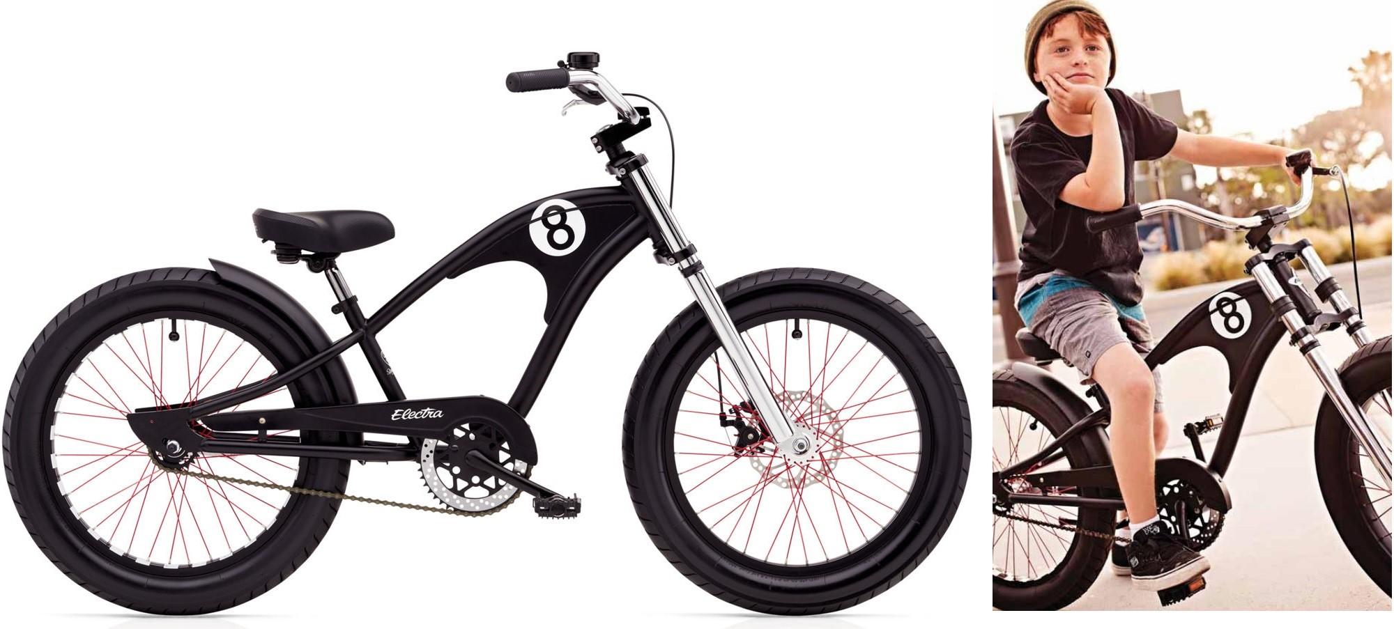 Bicykel ELECTRA Straight 8 1 Boys' Black 2018