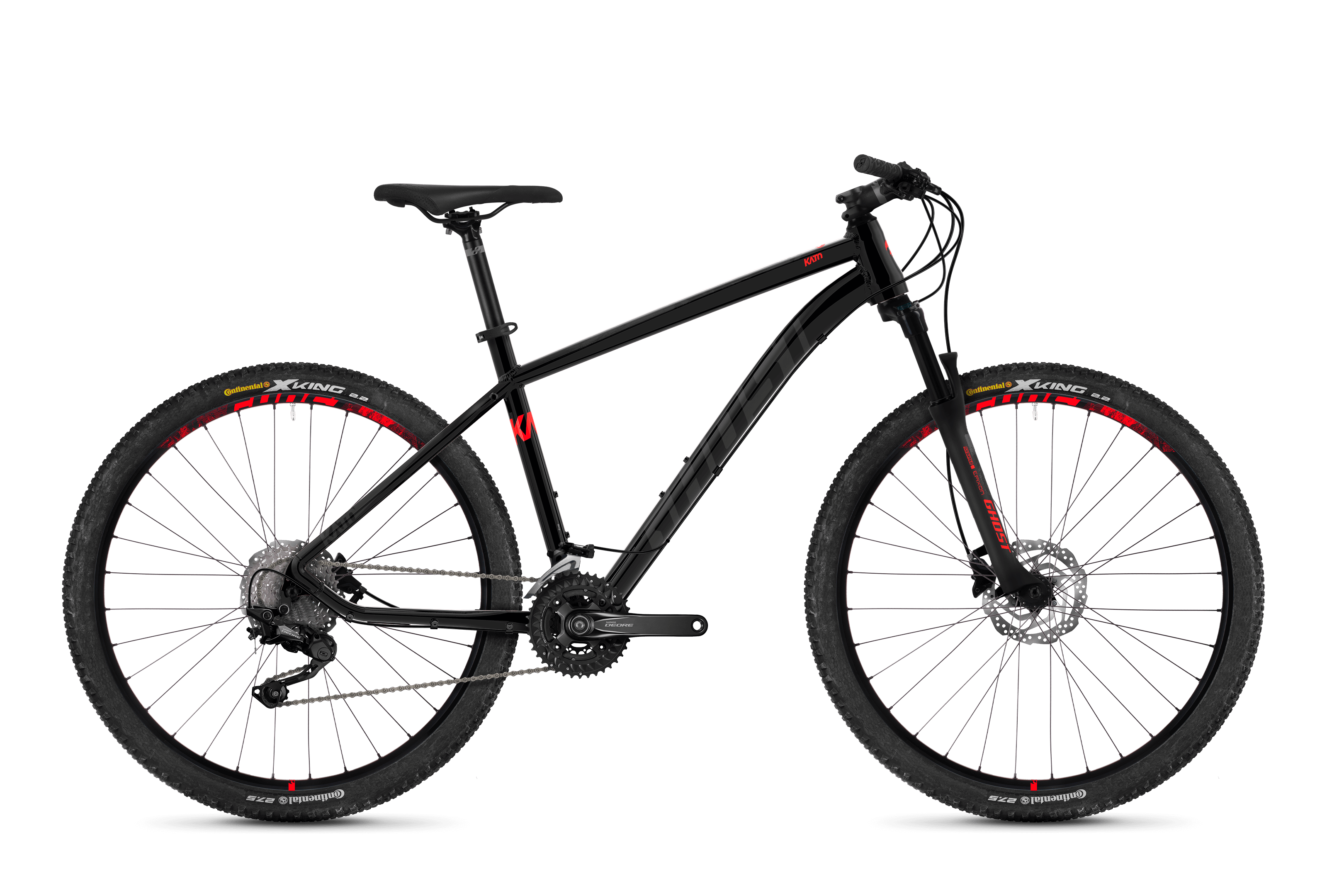 Bicykel Ghost Kato 6.7 black / red