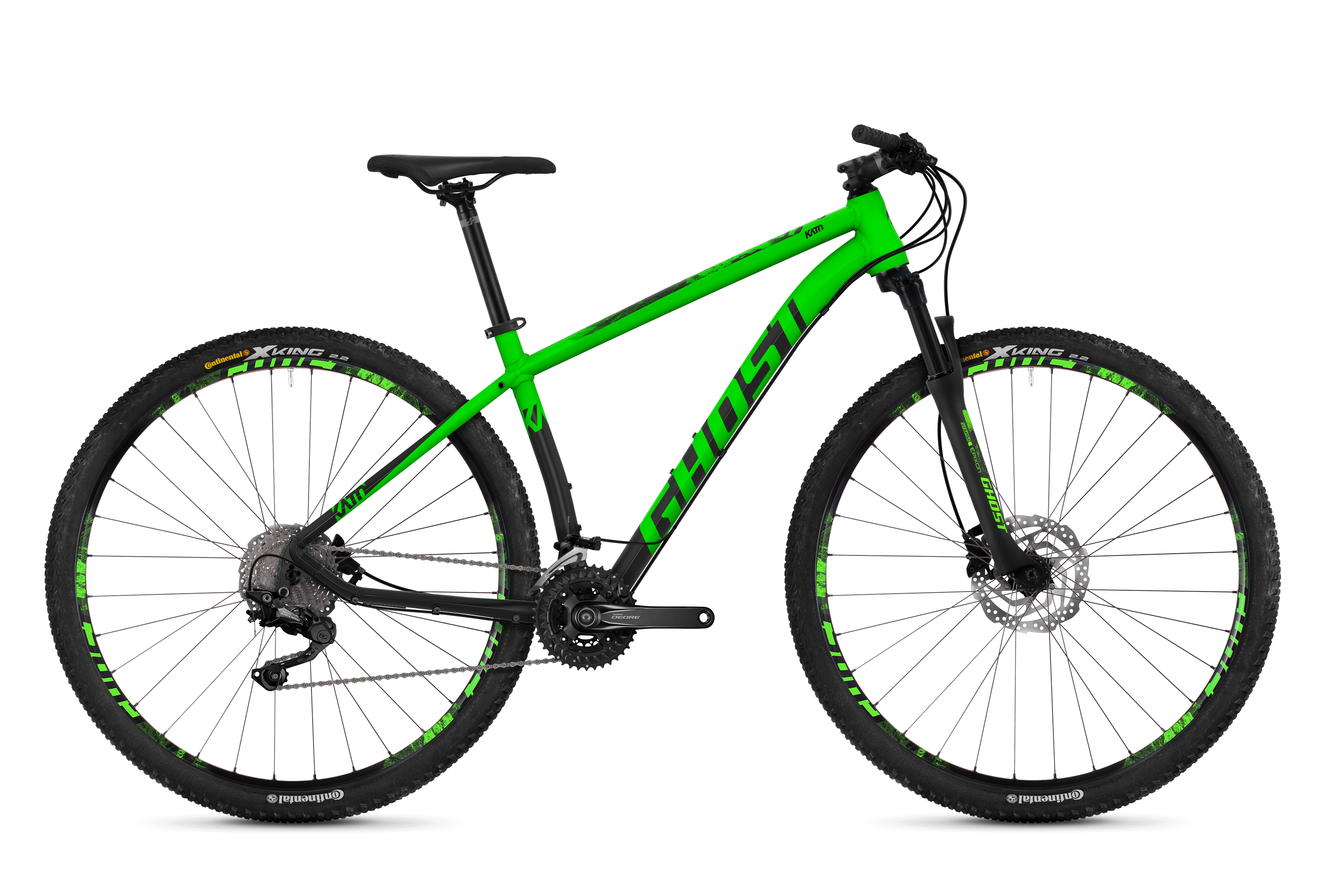 Bicykel Ghost Kato 6.9 green / black