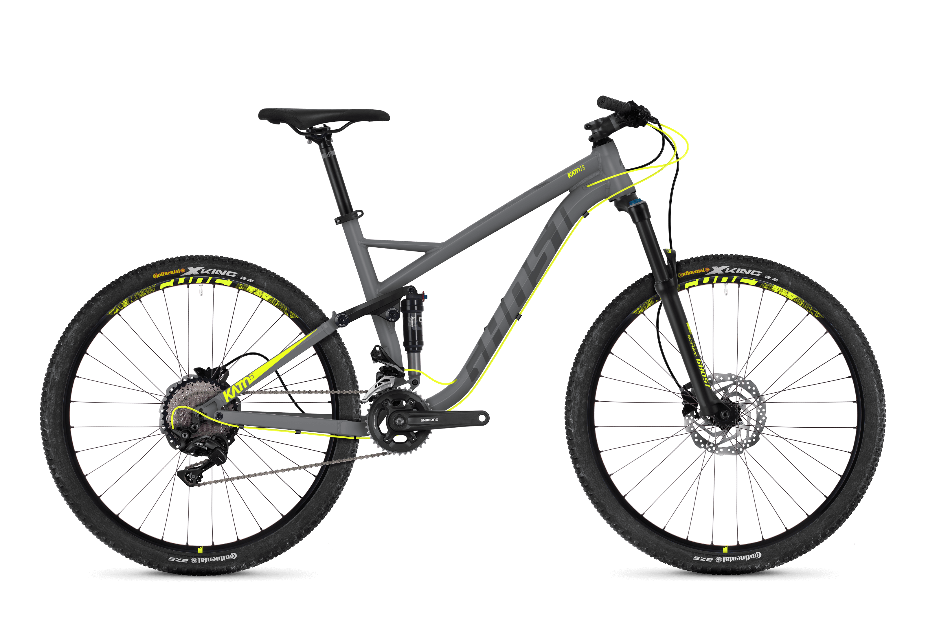 Bicykel Ghost Kato FS 3.7 grey / yellow