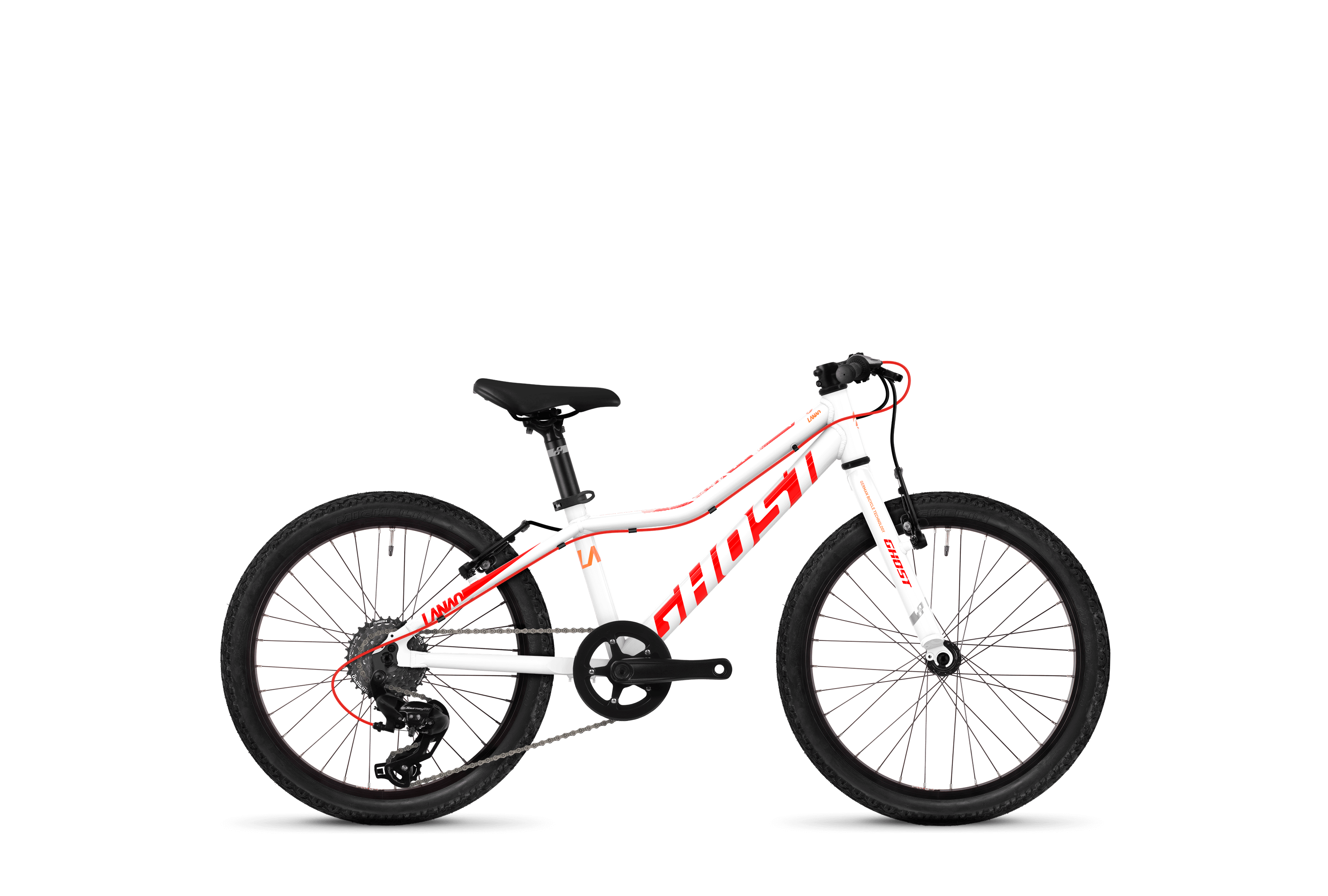 Bicykel Ghost Lanao KID R1.0 white / red