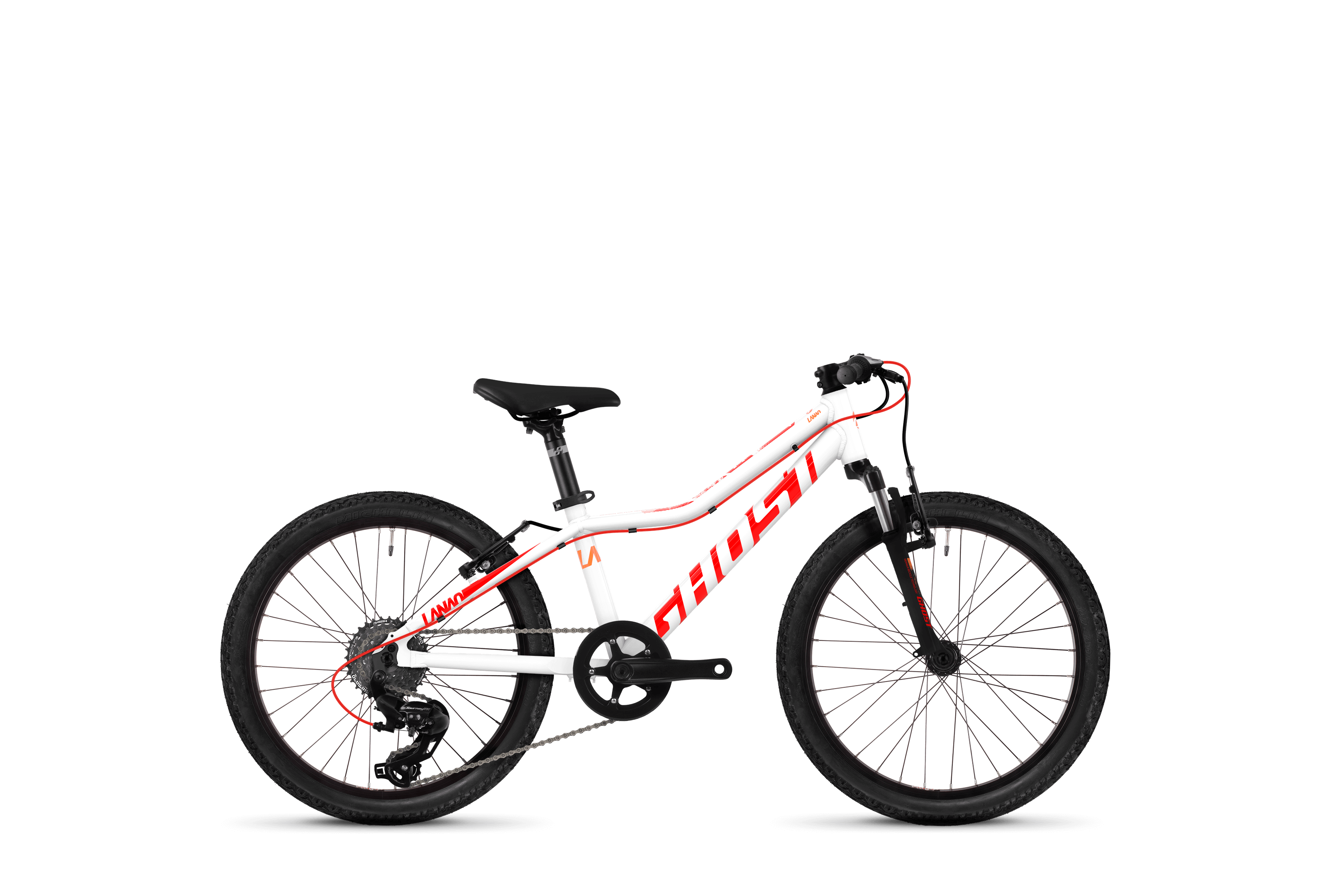 Bicykel Ghost Lanao KID 2.0 white / red