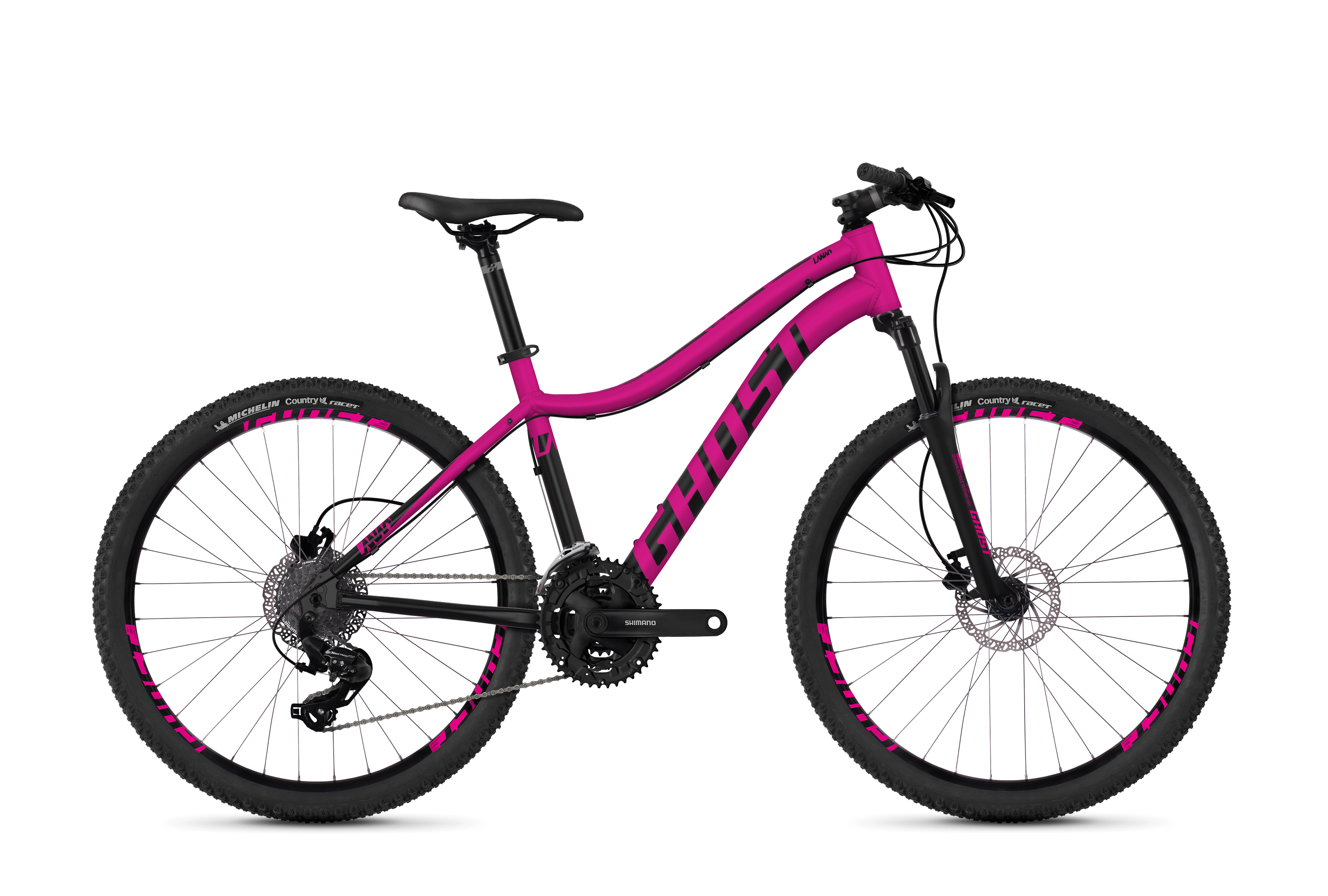 Bicykel Ghost Lanao 1.6 pink / black