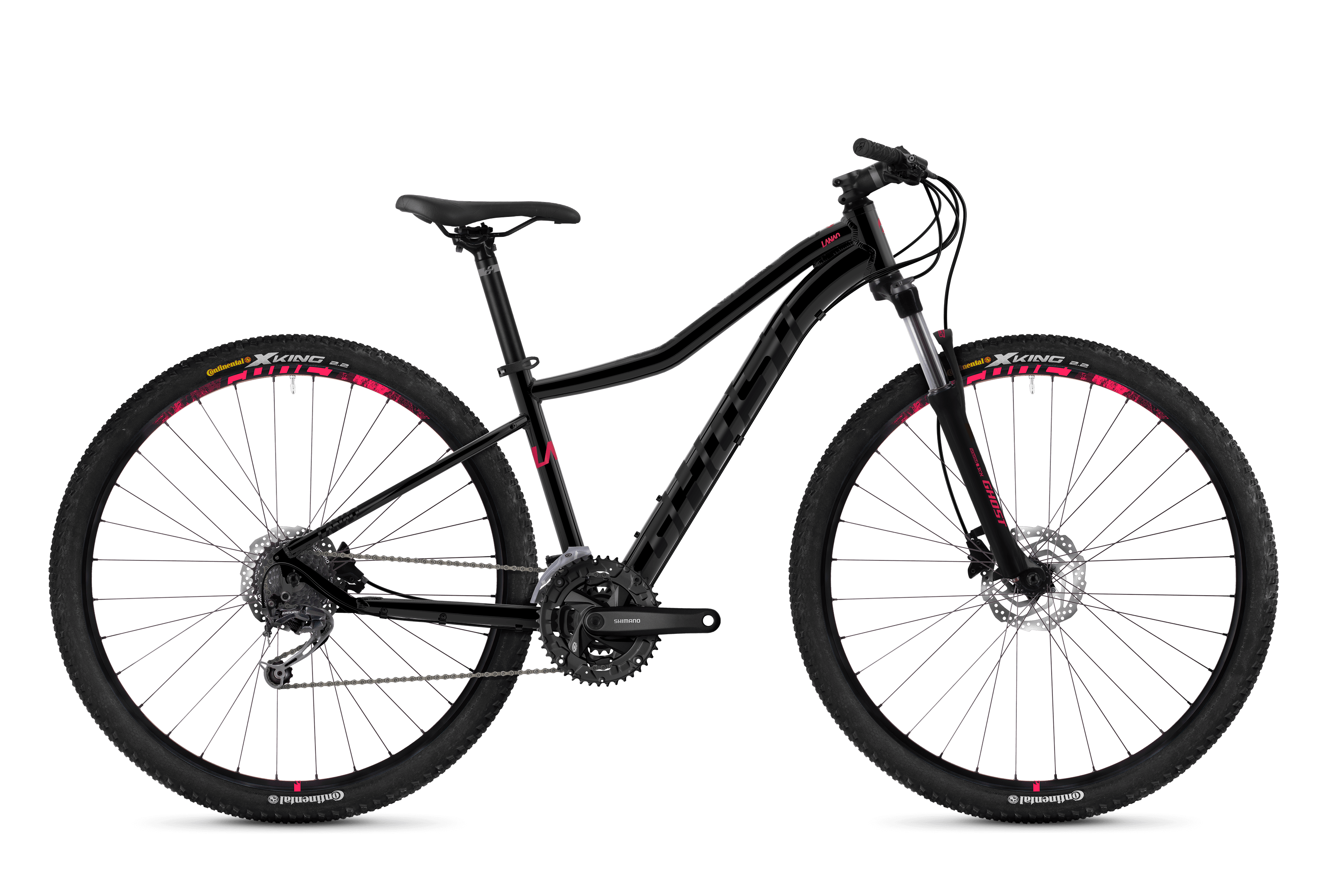 Bicykel Ghost Lanao 4.9 black / pink