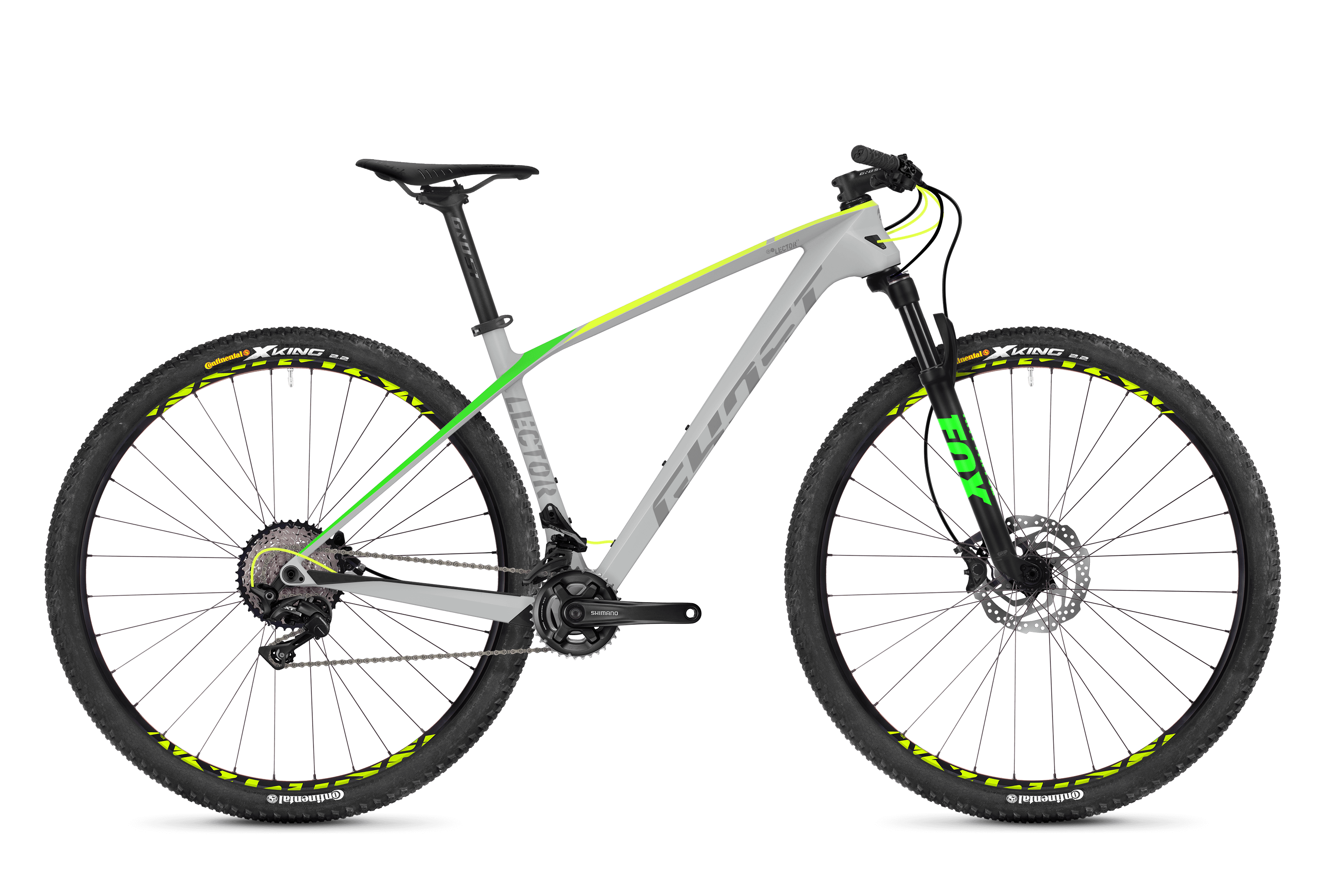 Bicykel Ghost Lector 3.9 LC grey / yellow green