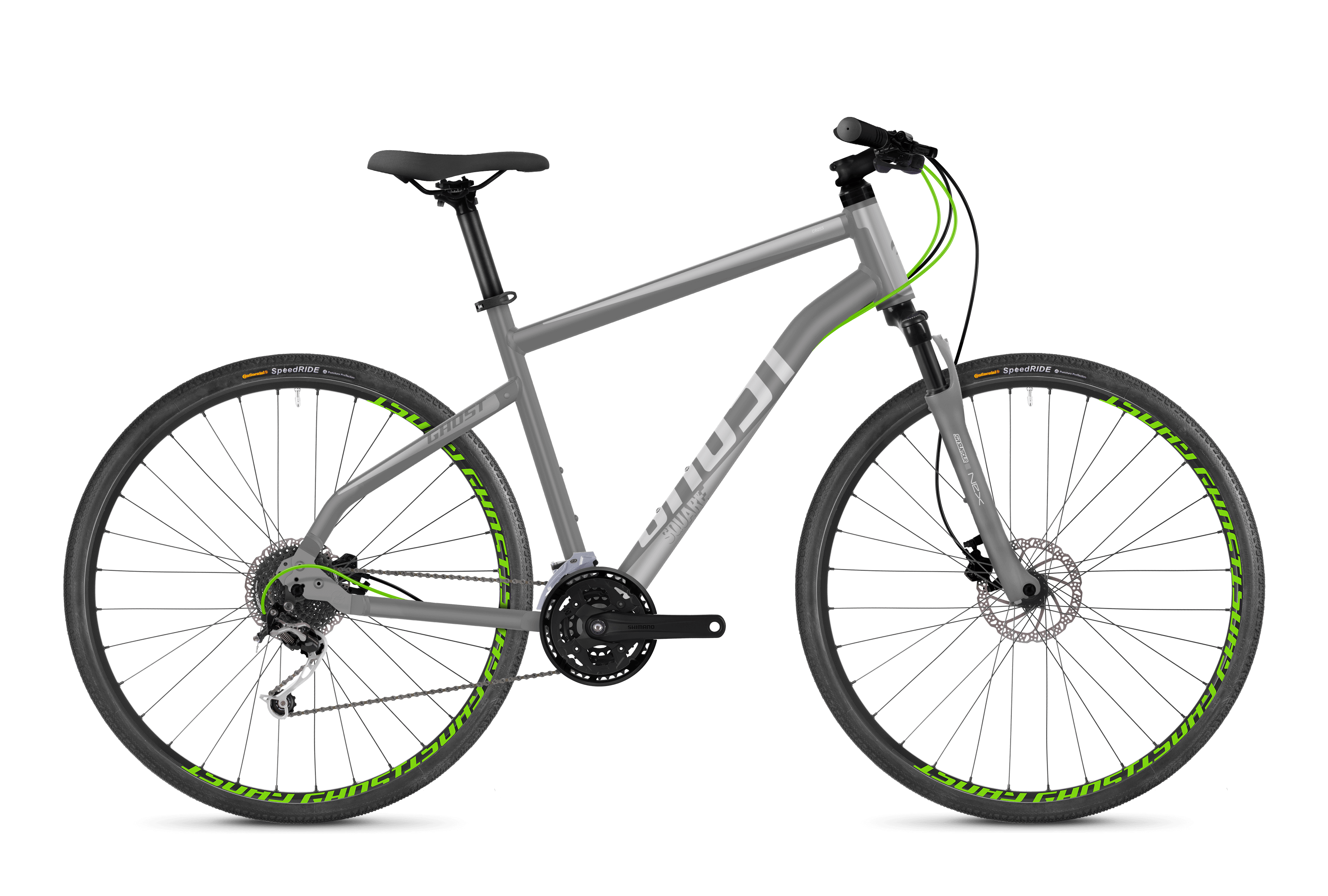 Bicykel Ghost Square Cross 2.8 grey / green