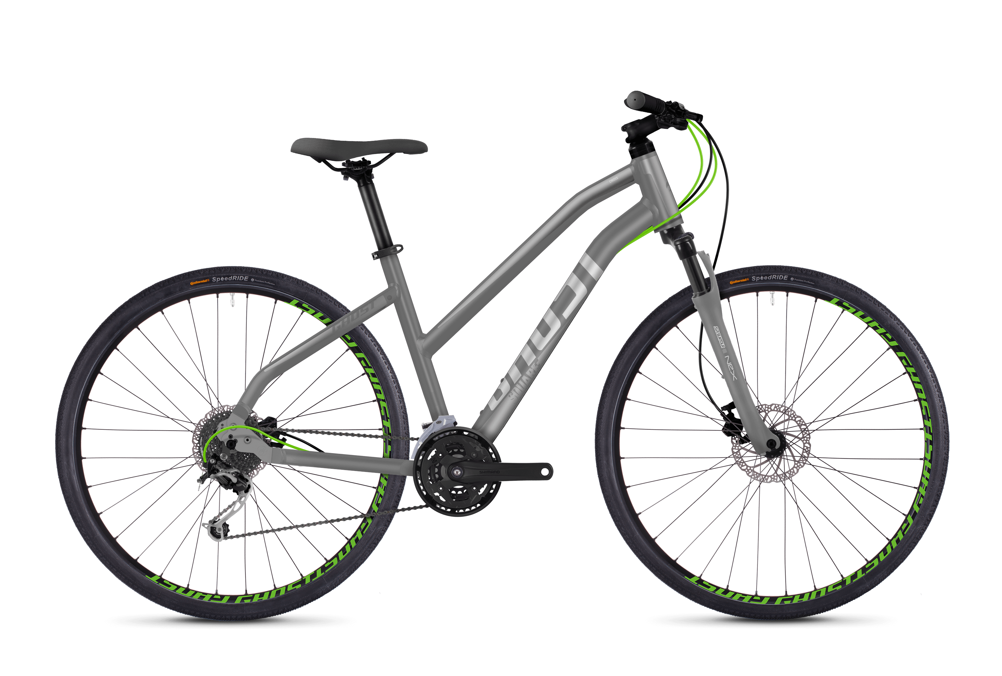 Bicykel Ghost Square Cross 2.8 grey / green Ladies