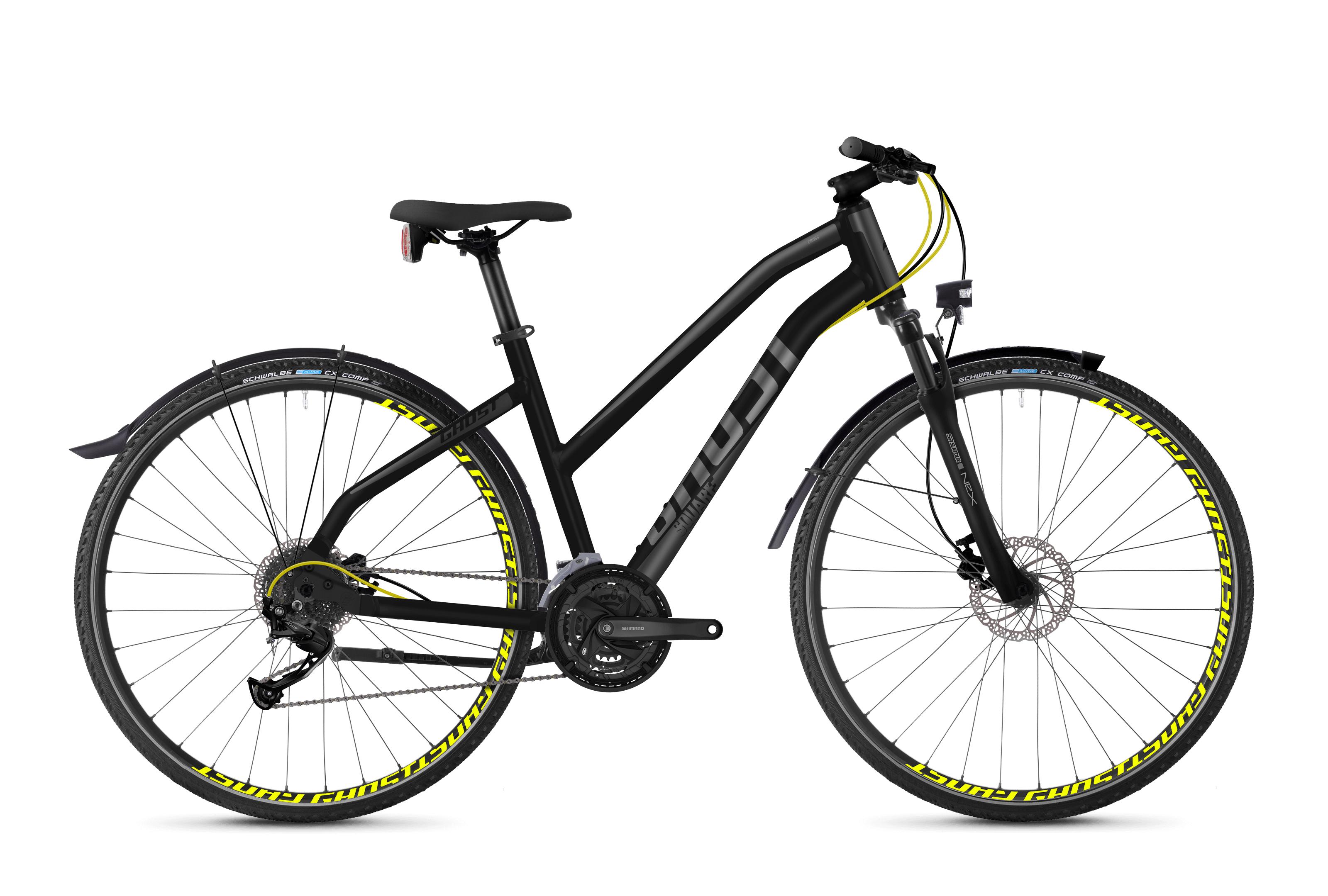 Bicykel Ghost Square Cross X 3.8 black / yellow Ladies
